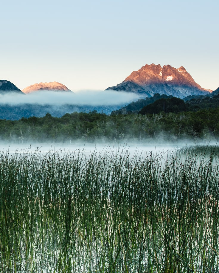 Lago Villarino sunrise