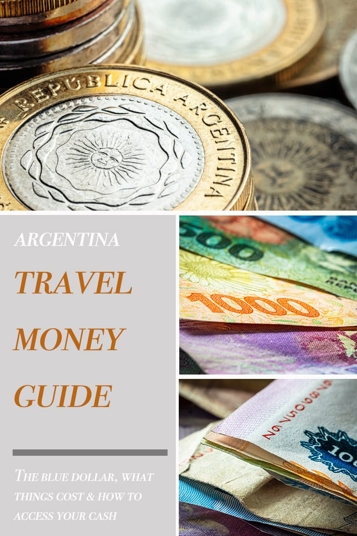 Pin image for travel money in Argentina