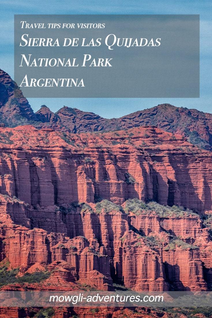 Sierra de las Quijadas National Park Argentina pin image