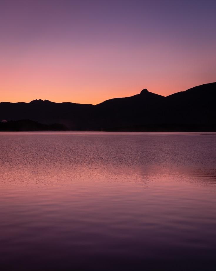 Ruta de los siete lagos dawn over Lago Lacar