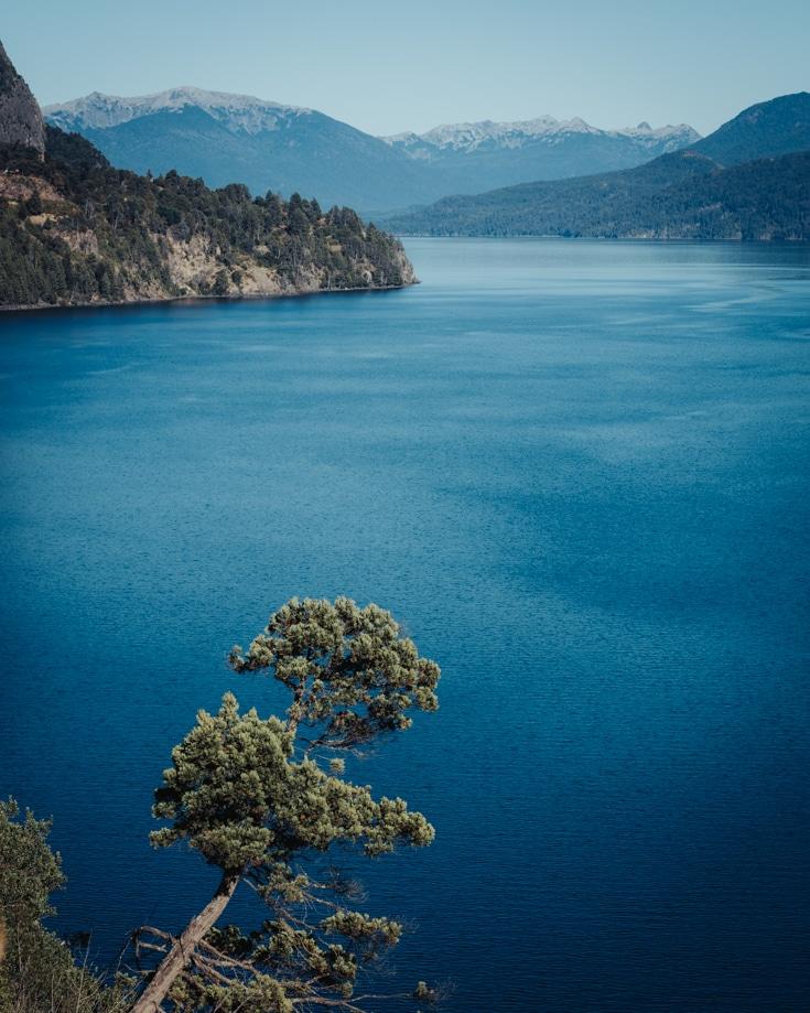 Views over Lake Lacar towards San Martin de los Andes