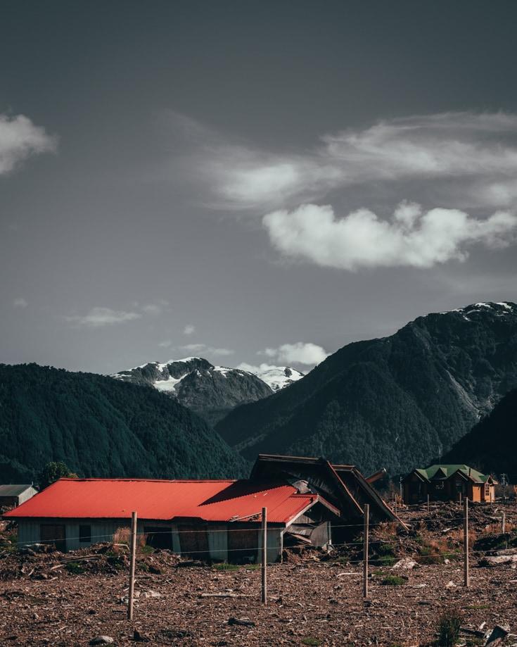 Villa Santa Lucia Chile landslide damage