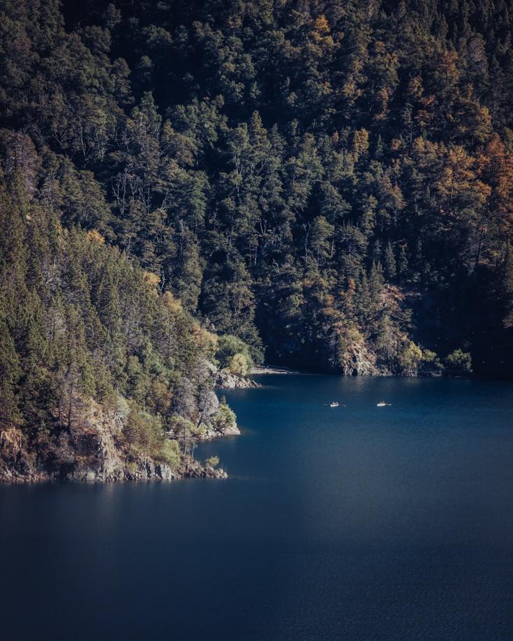 kayaking in Lake Lacar near San Martin de los Andes