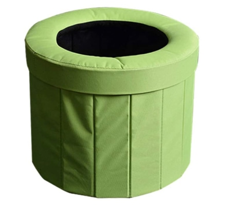 Bucket toilet for using in a campervan or camping trip