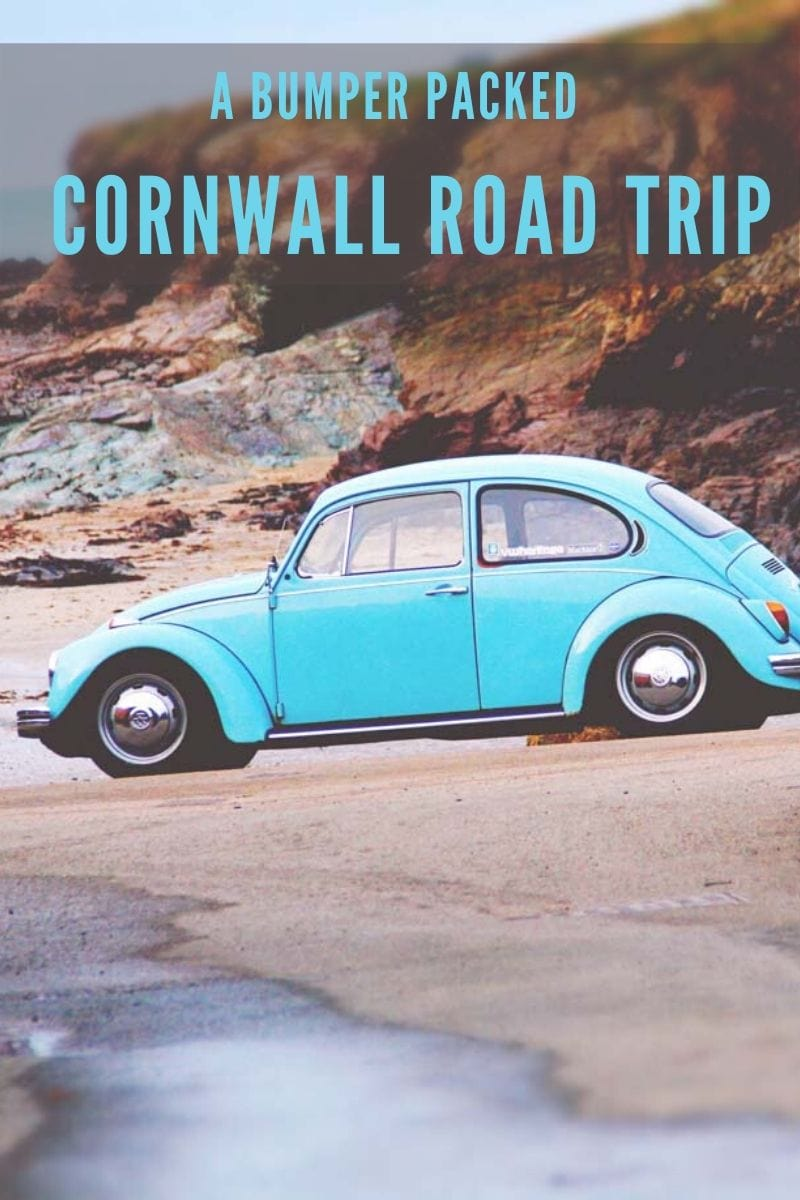 Pin image for Cornwall road trip itinerary