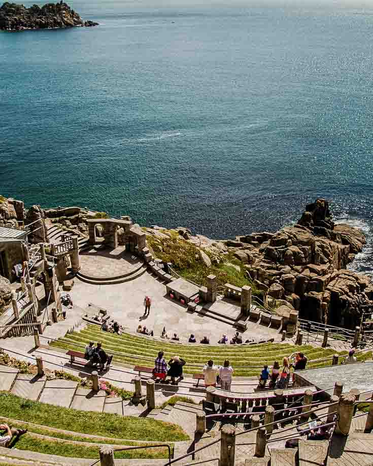 The Minack theatre as seen from the viewing platform
