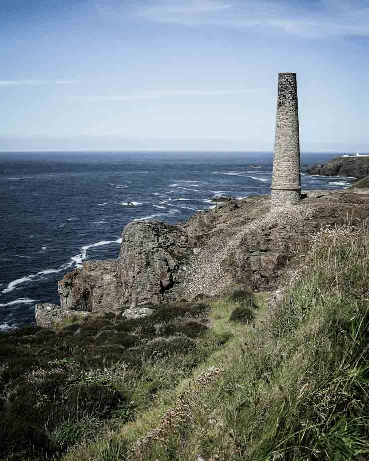 Mining chimney stack in Cape Cornwall