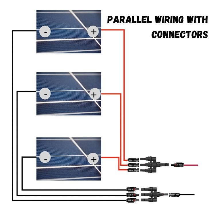 Parallel wiring with connectors solar wiring diagram