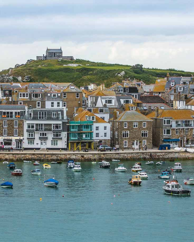 St Ives and the harbour