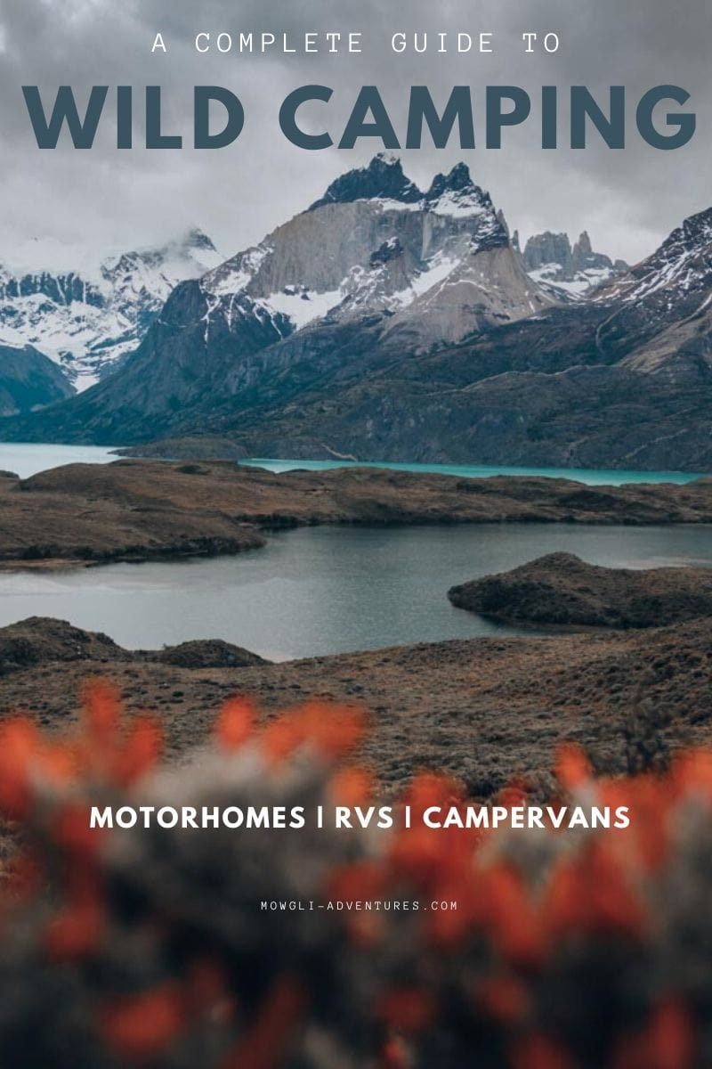 Wild camping for motorhomes & camper vans pin image