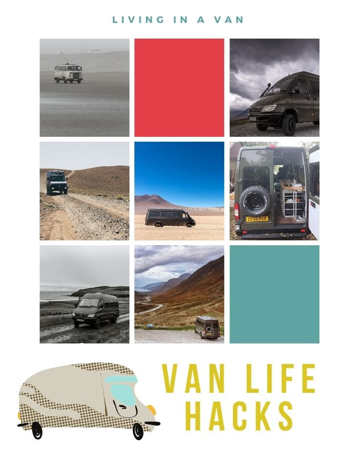 Van life hacks for living on the road