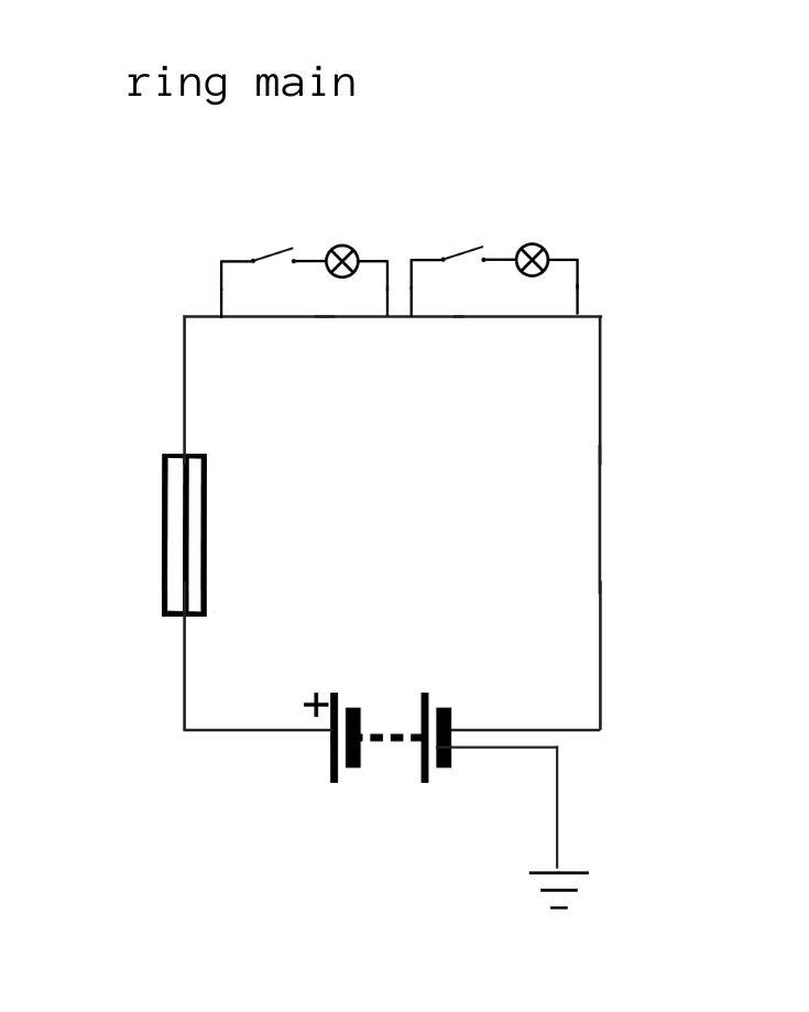 Campervan ring main wiring diagram