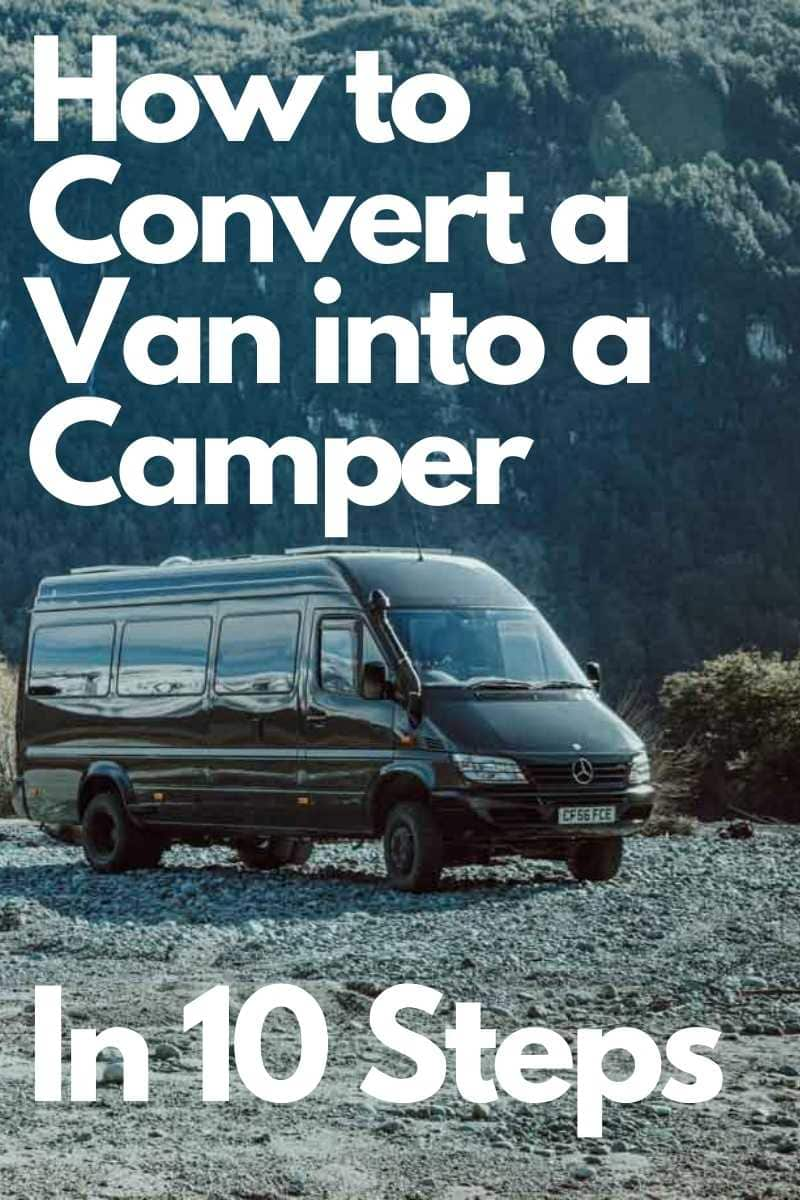 Pin image for DIY Campervan Conversion