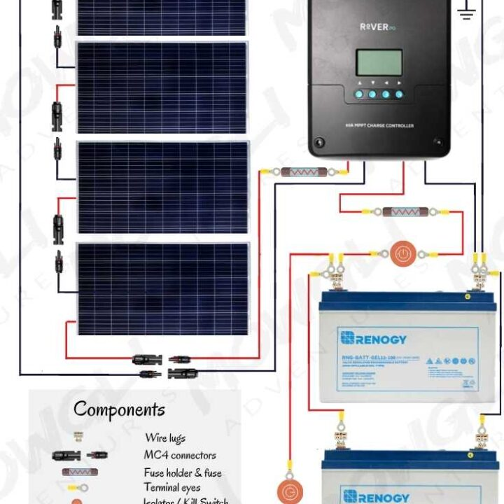 12v Solar Panel Wiring Diagrams For Rvs  Campers  Van U2019s  U0026 Caravans
