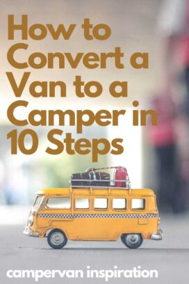Pin image for DIY Campervan Conversion
