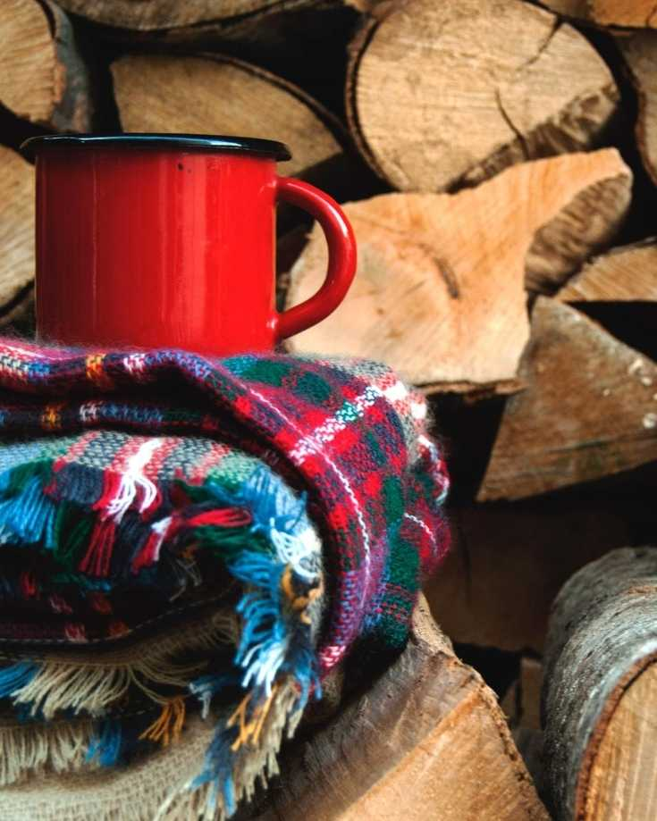 coffee and blankets and fuel for heating a van in winter