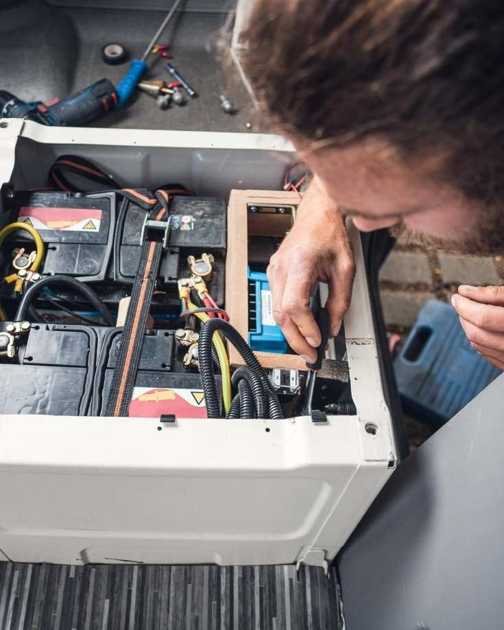 Fitting batteries in a campervan