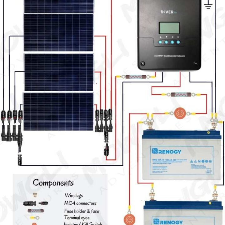 12v Solar Panel Wiring Diagrams For Rvs Campers Van S Caravans
