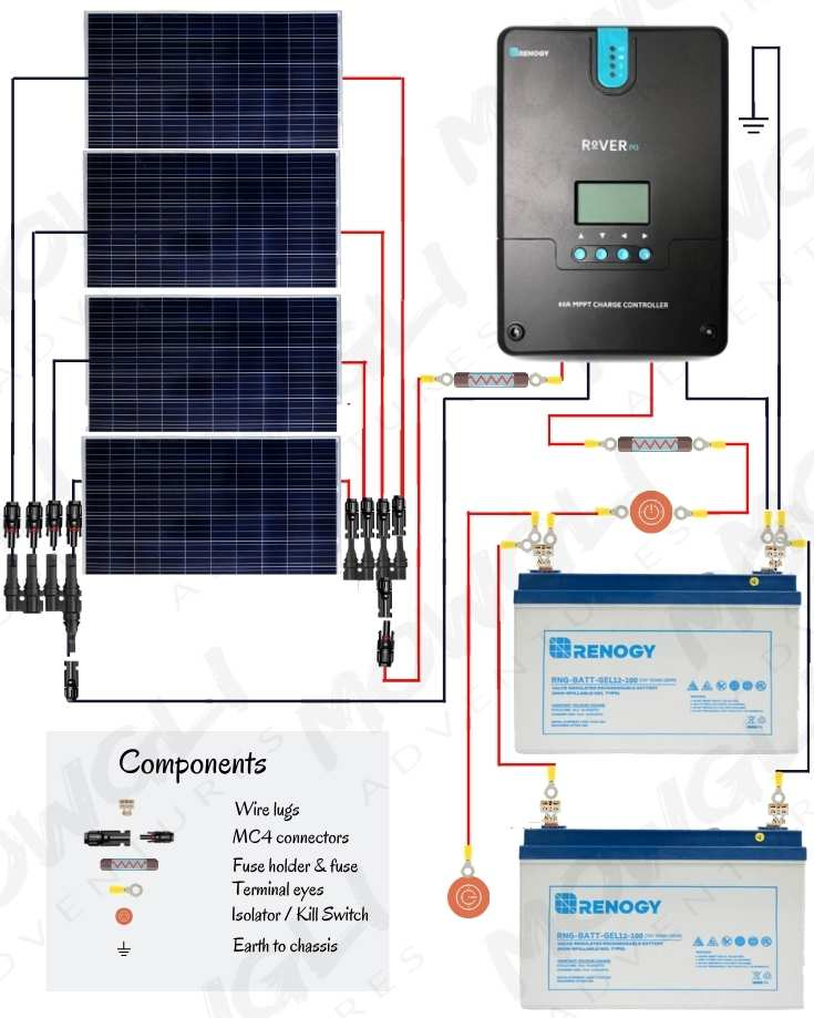 800 watt solar panel wiring diagram in parallel