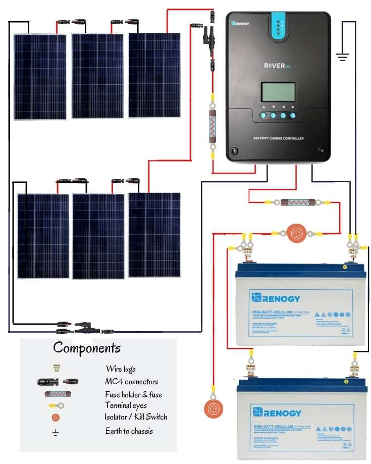 800w solar panel wiring diagram in series and parallel