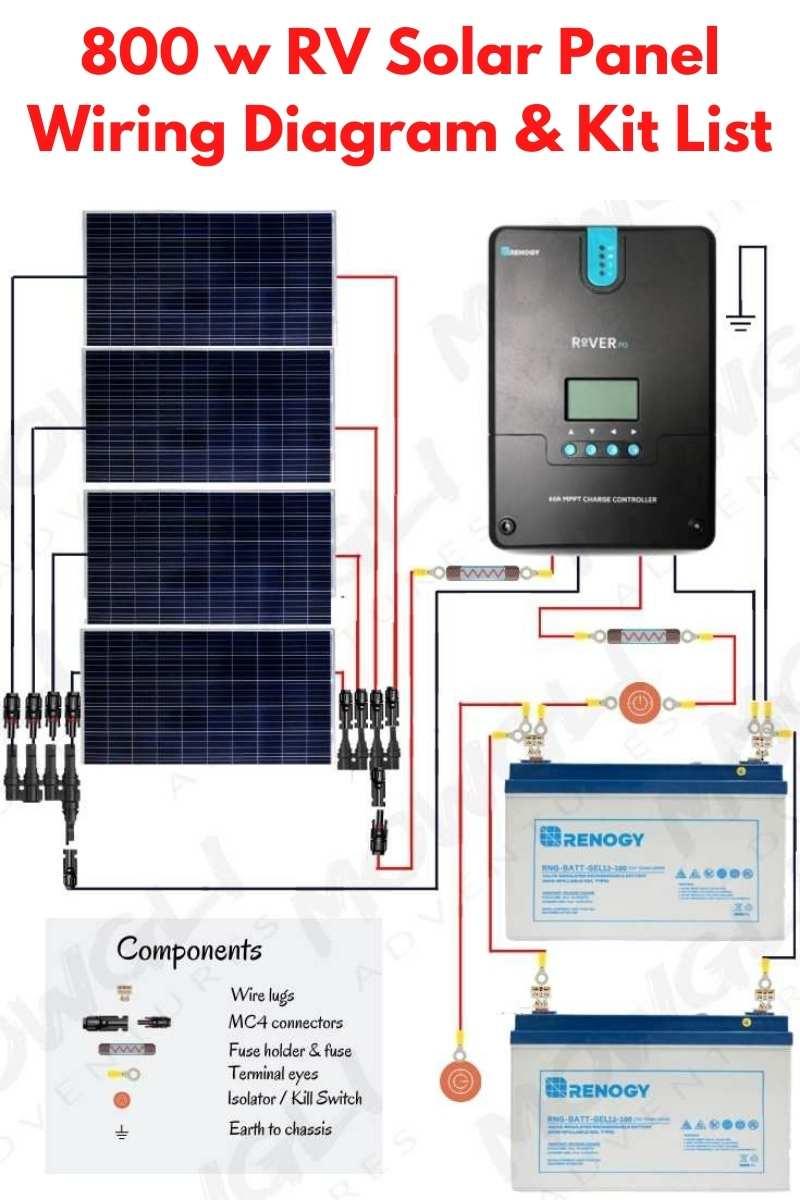 800w solar panel wiring diagram on pinterest1