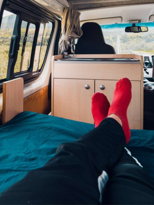 Living in a van in winter is comfortable with a diesel heater