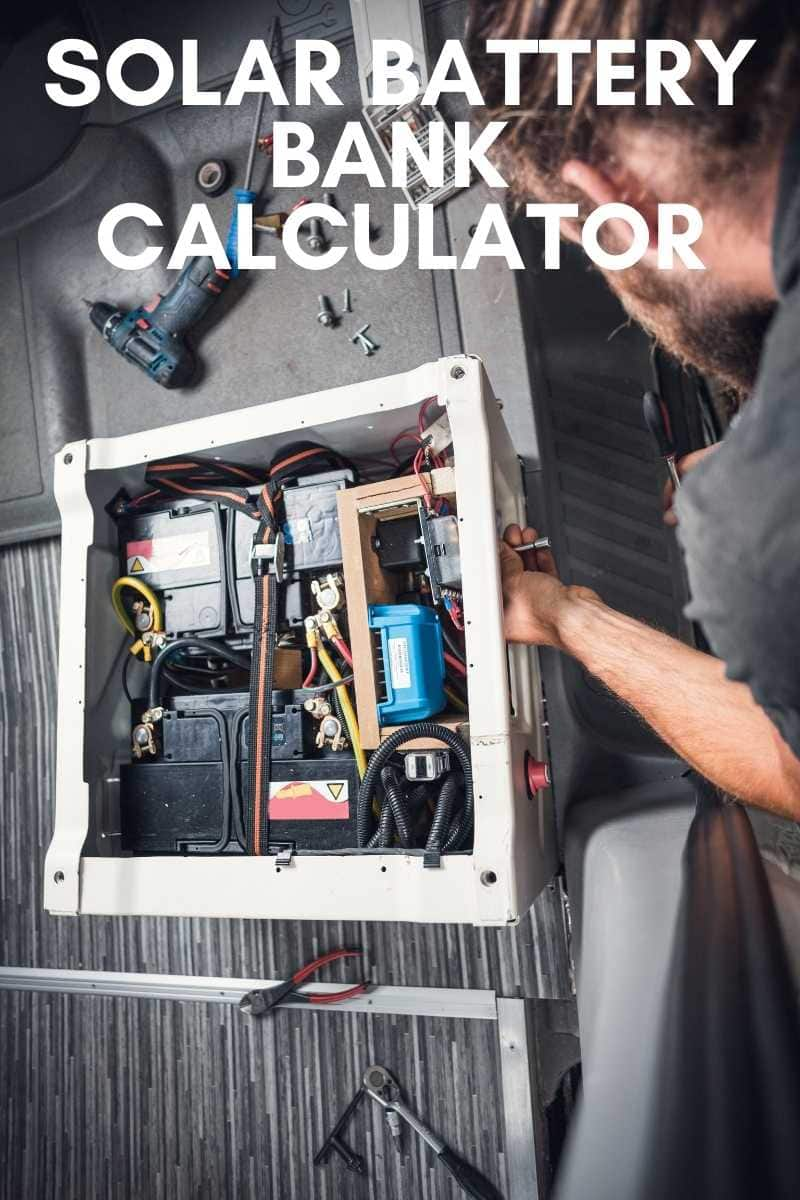 Solar battery bank Calculator for pinterest