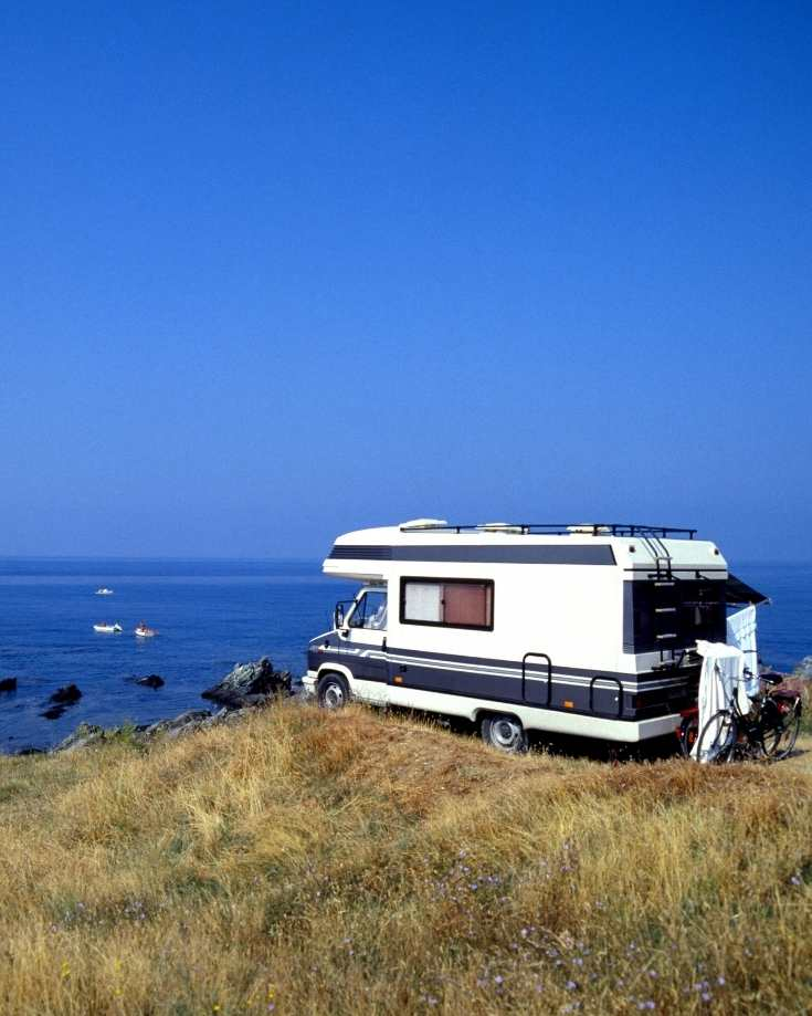 An RV soaking up the free renewable energy