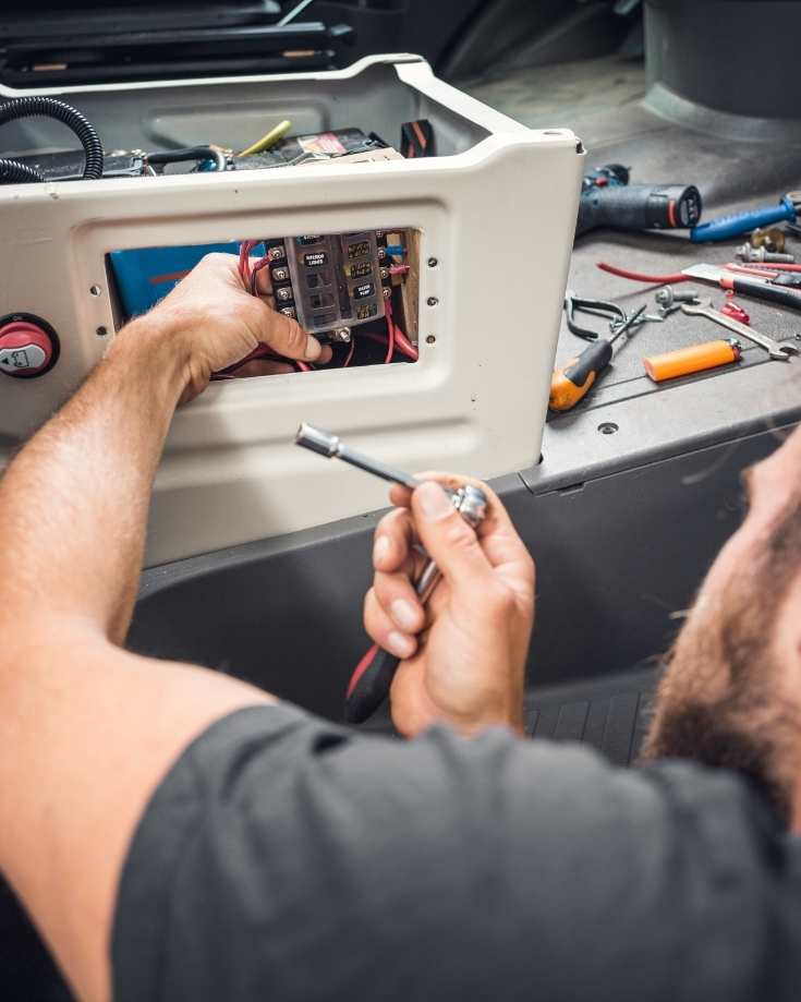 Fitting solar charge controllers in an RV is a relatively simple task