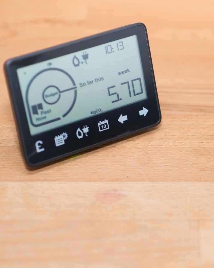 Digital battery monitor LCD screen