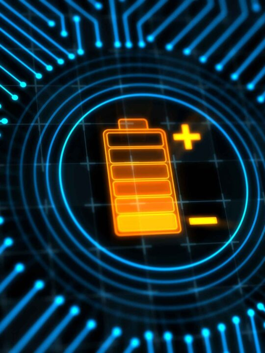 digital image of charging battery