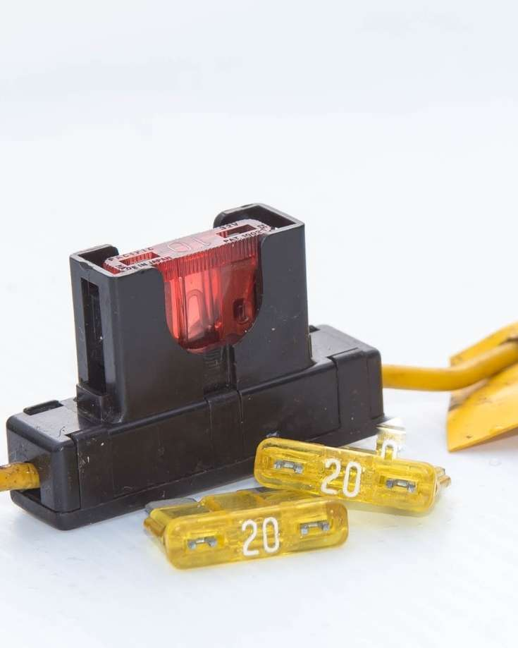 Fuses protect the power supply and wires