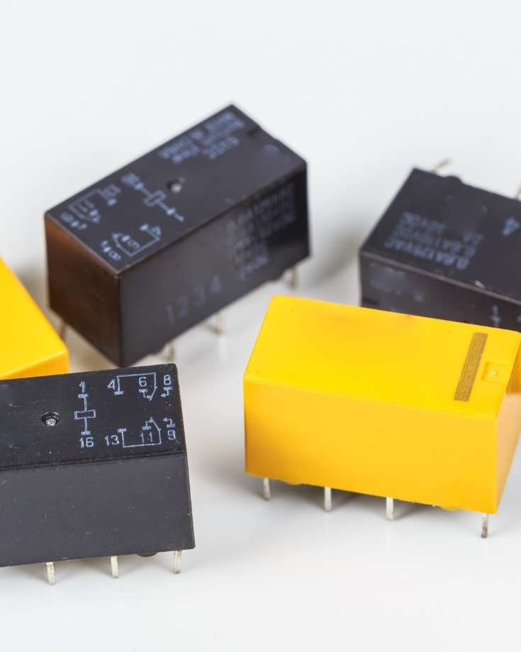 relays for DC circuits need to be sized to the components they operate