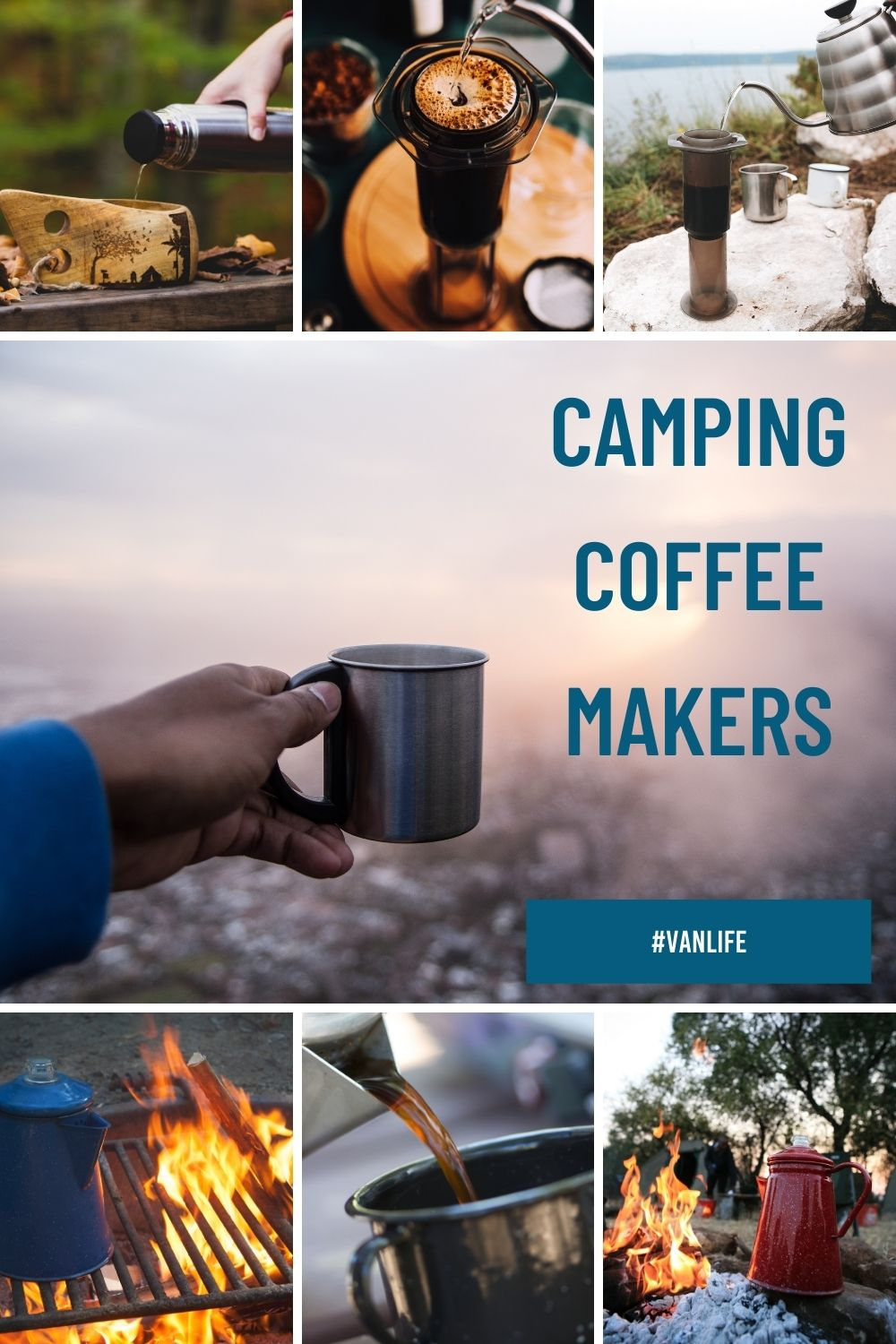 8 Best Camping Coffee Makers for campervans, van life, rv living & camping for pinterest