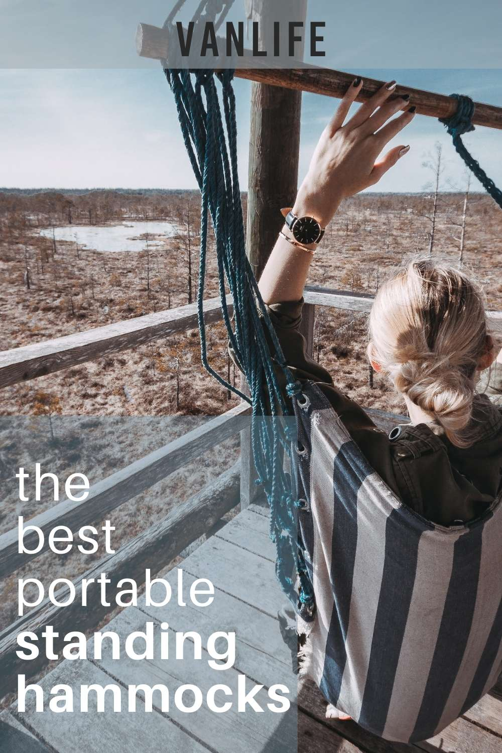 Portable Hammock Stands for Van Life and Hammock Camping on Pinterest
