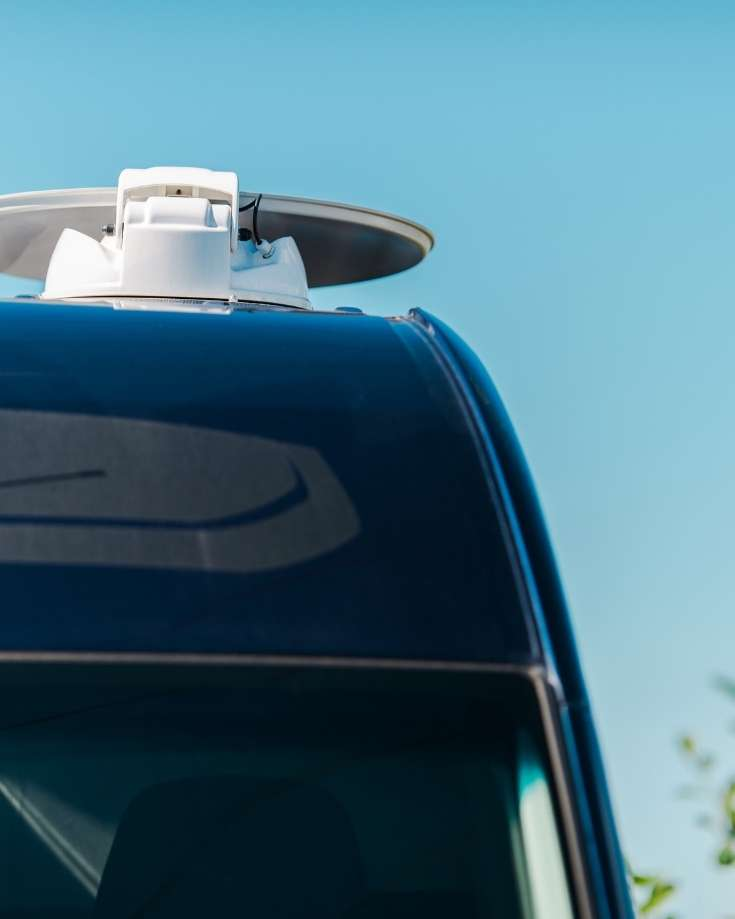 Starlink Satellite dishes will be roof mounted and not as enormous, ideal for RVs without much roof space.