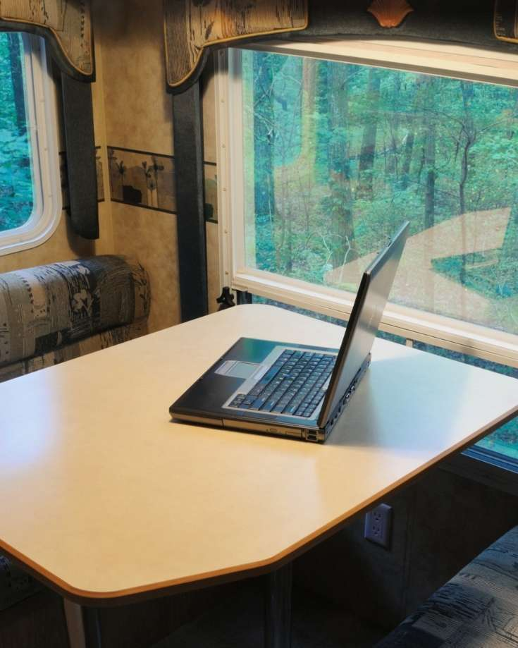 Working on a laptop in a camper demands a good wifi connection