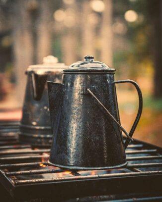 Cowboy campfire coffee pot