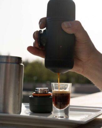 portable espresso maker for great camp coffee