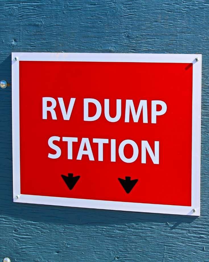 sign for an rv dump station