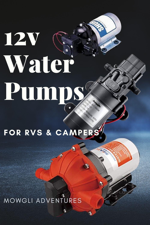 12v RV water pumps for campervan conversion, van builds and campers on Pinterest