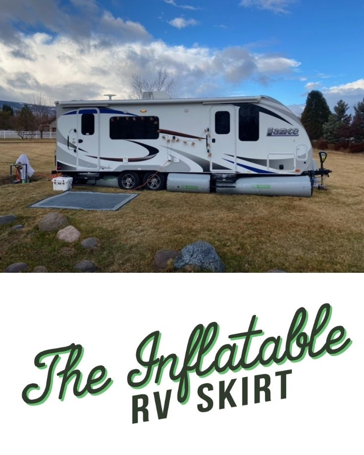 inflatable rv skirting protecting the underbelly