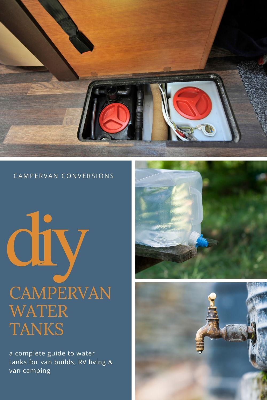campervan water tanks for van conversions and rv living