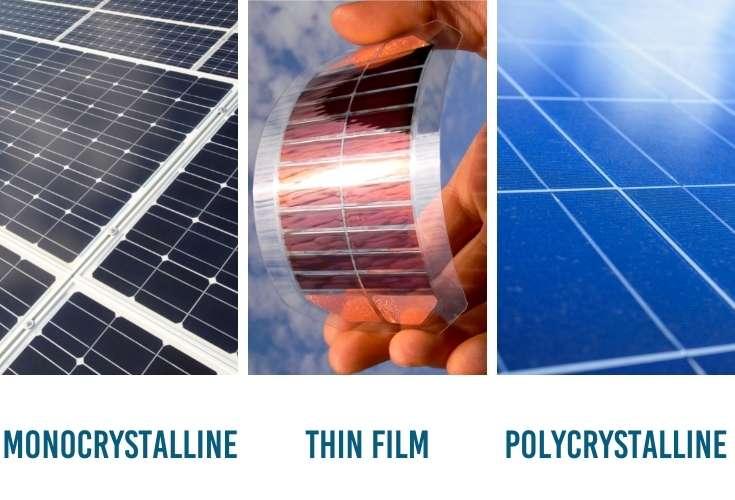 three types of portable solar panel technology