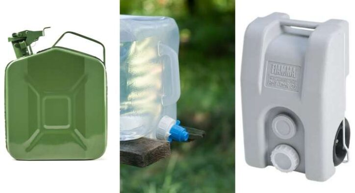 types of portable water tanks for camper and RVs