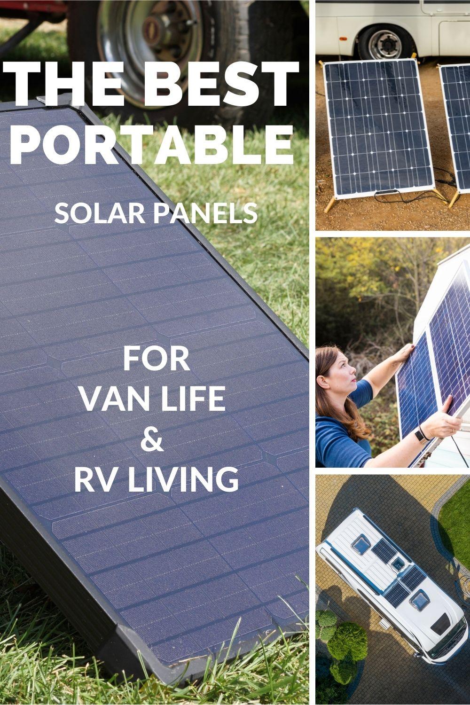 the best portable solar panels for RV living
