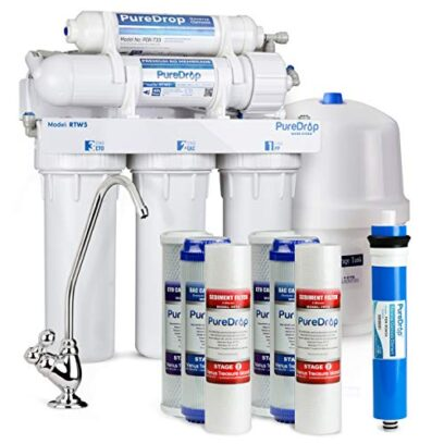 PureDrop RTW5 Undersink 5-Stage Reverse Osmosis Drinking Water Filtration System