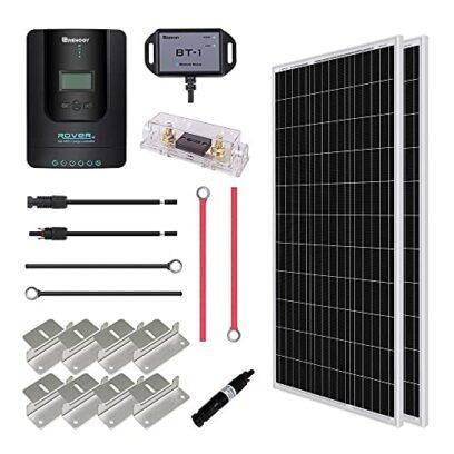 Renogy 200W 12V Monocrystalline Solar Premium Kit Rover 20A, MPPT, Charger Controller