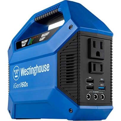 Westinghouse Outdoor Power Equipment iGen160s Portable Power Station and Outdoor Generator 150 Peak 100 Rated Watts, Solar Solar, 155Wh Lithium-ion Battery (Solar Panel Not Included)