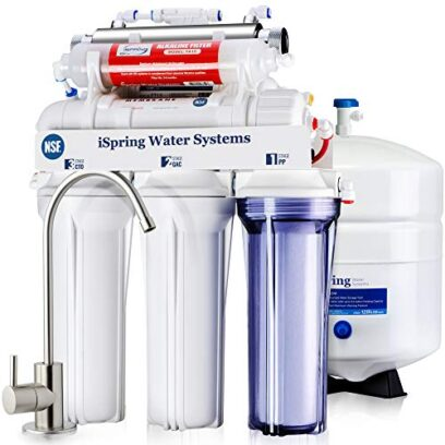 iSpring 7-Stage Undersink Reverse Osmosis Drinking Water Filtration System